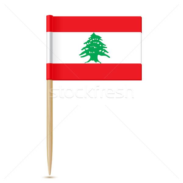 флаг Ливан белый карта концепция баннер Сток-фото © sonia_ai