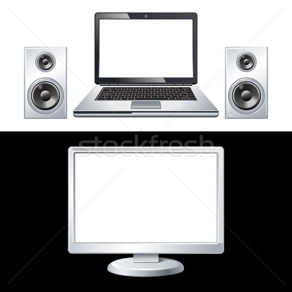 Computer geïsoleerd witte zwarte toetsenbord spreker Stockfoto © sonia_ai