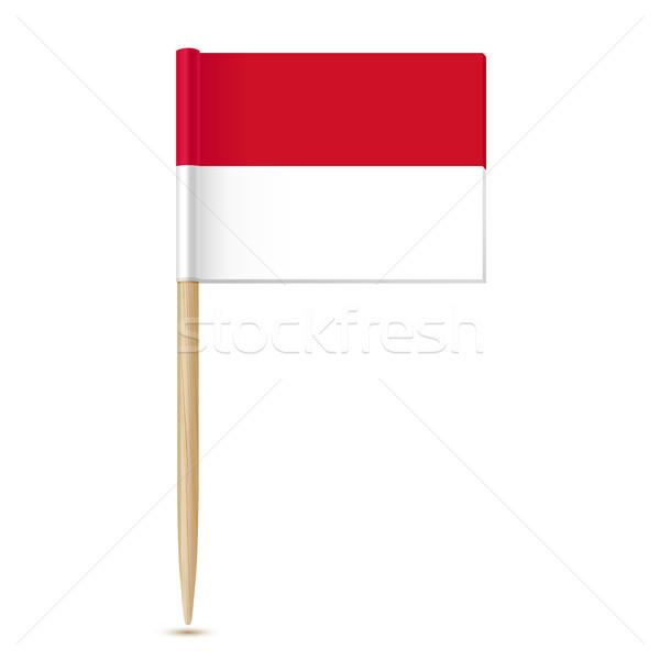 Монако флаг изолированный белый дизайна фон Сток-фото © sonia_ai
