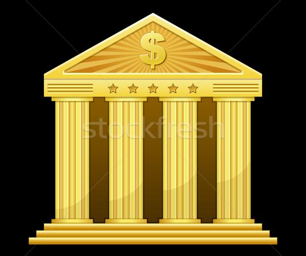 золото банка деньги дома здании звездой Сток-фото © sonia_ai