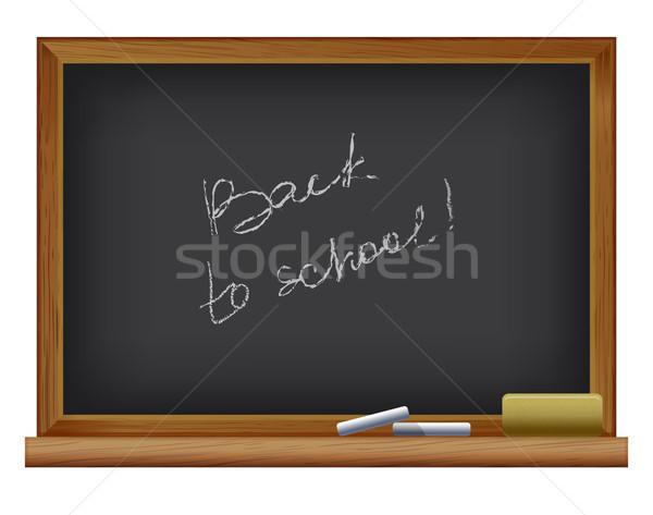Снова в школу доске кадр образование Дать связи Сток-фото © sonia_ai