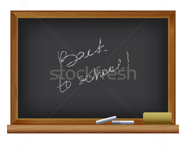 Сток-фото: Снова · в · школу · доске · кадр · образование · Дать · связи