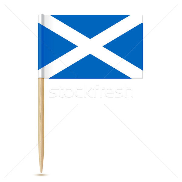 Шотландии флаг изолированный белый синий стране Сток-фото © sonia_ai
