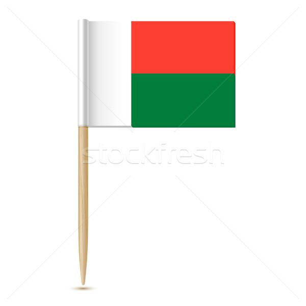 флаг Мадагаскар белый бумаги дизайна путешествия Сток-фото © sonia_ai