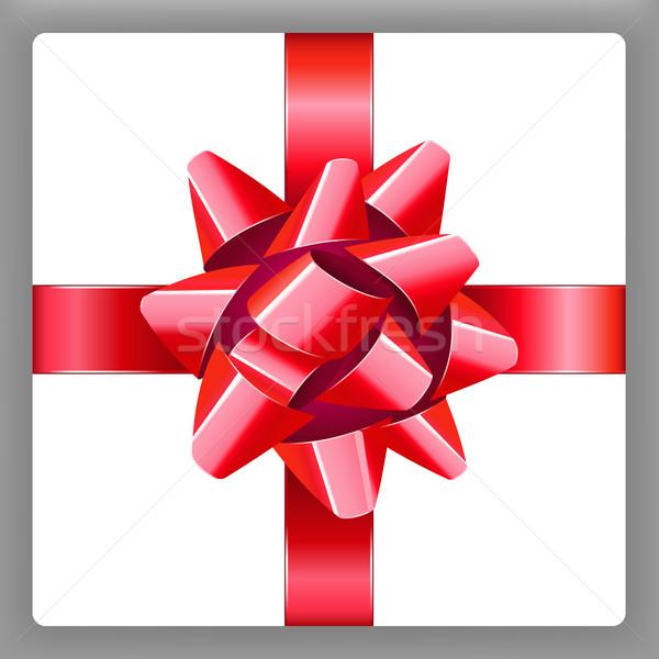 Rood boeg lint vector vakantie aanwezig Stockfoto © sonia_ai