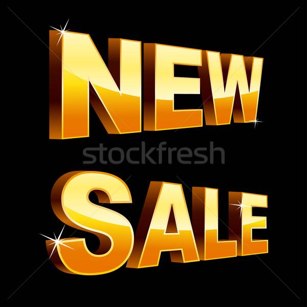 Nieuwe verkoop geïsoleerd zwarte business communicatie Stockfoto © sonia_ai