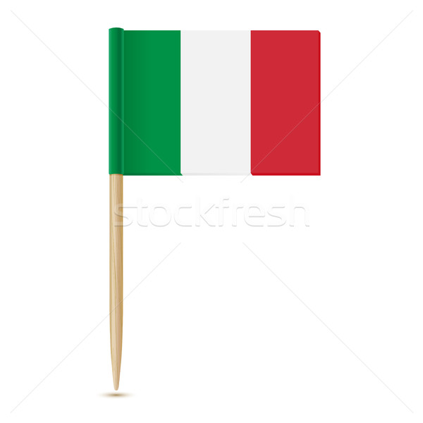 Flag Italy. Flag toothpick 10eps Stock photo © sonia_ai