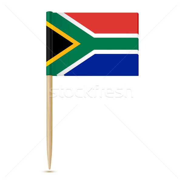 ЮАР флаг белый бумаги путешествия черный Сток-фото © sonia_ai