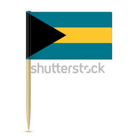 флаг Багамские острова древесины Мир знак свободу Сток-фото © sonia_ai