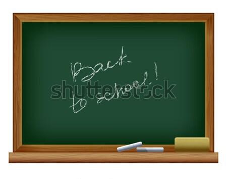 Blackboard groene frame klas informatie boord Stockfoto © sonia_ai
