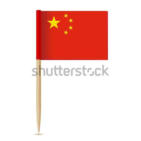 China Flag. Flag toothpick 10eps Stock photo © sonia_ai