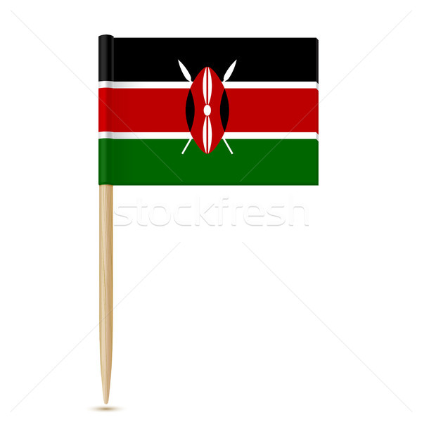 Flag of Kenya. Flag toothpick on white background Stock photo © sonia_ai