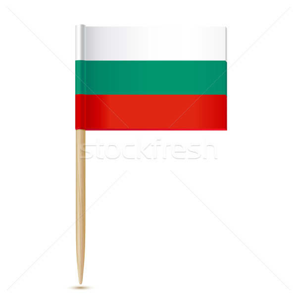 Bulgaria Flag. Flag toothpick 10eps Stock photo © sonia_ai