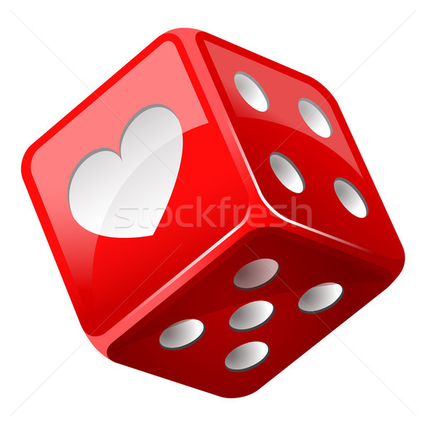 красный Dice свадьба сердце казино успех Сток-фото © sonia_ai