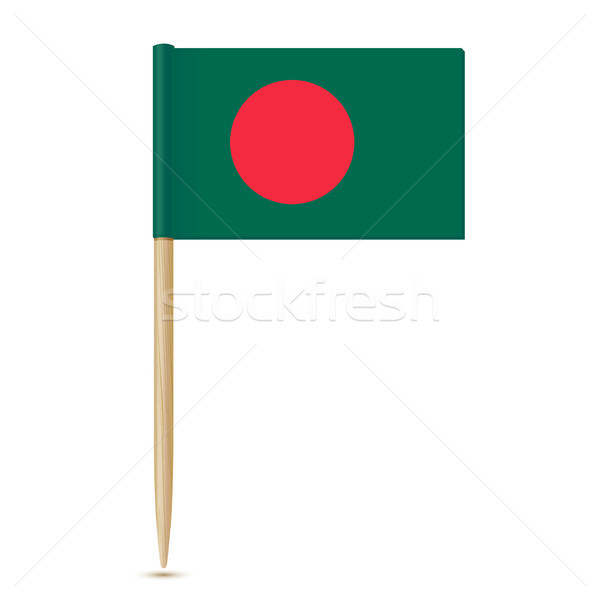flag of Bangladesh. Flag toothpick 10eps Stock photo © sonia_ai