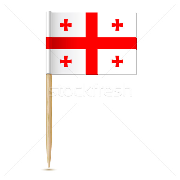 Flag of Georgia country. Flag toothpick 10eps Stock photo © sonia_ai