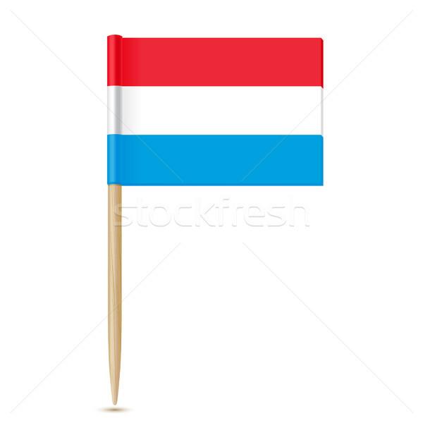 Luxemburg vlag witte kaart wereld reizen Stockfoto © sonia_ai
