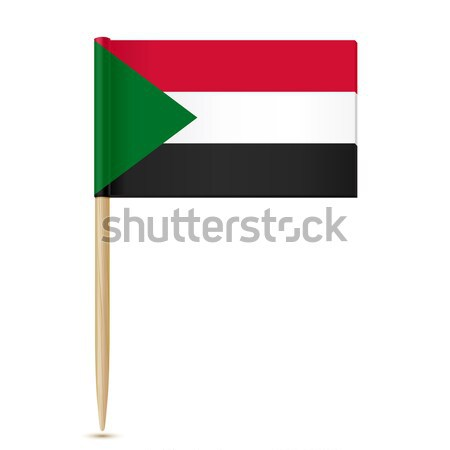 Sudan flag toothpick 10eps Stock photo © sonia_ai