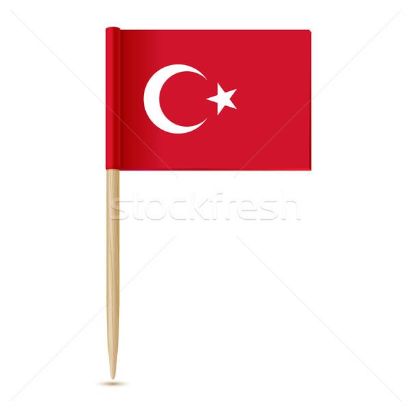 Turkije vlag kaart oorlog vrede witte Stockfoto © sonia_ai