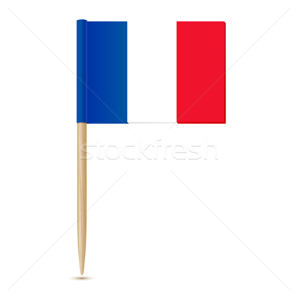Flag of France. Flag toothpick Stock photo © sonia_ai