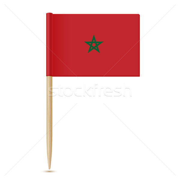Flag of Morocco. Flag toothpick 10eps Stock photo © sonia_ai