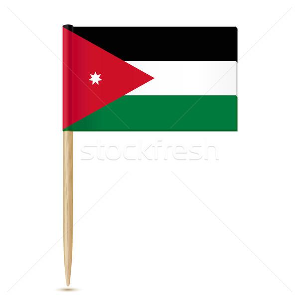 Иордания флаг карта фон знак землю Сток-фото © sonia_ai