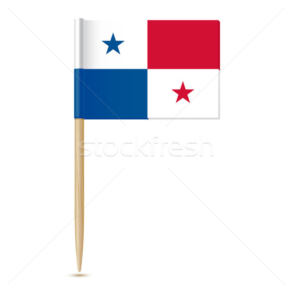 Panama flag. Flag toothpick 10eps Stock photo © sonia_ai