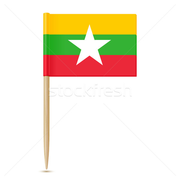 Flag of Myanmar. Flag toothpick Stock photo © sonia_ai
