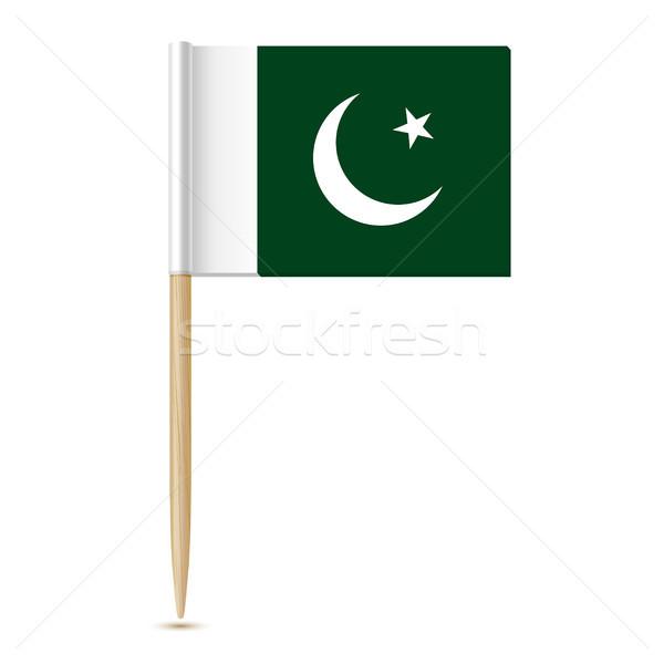 Pakistan vlag witte geïsoleerd papier kaart Stockfoto © sonia_ai