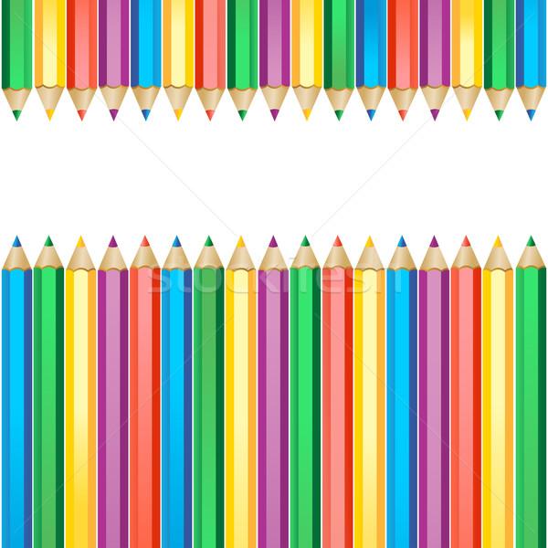 Gekleurd potloden geïsoleerd witte potlood achtergrond Stockfoto © sonia_ai