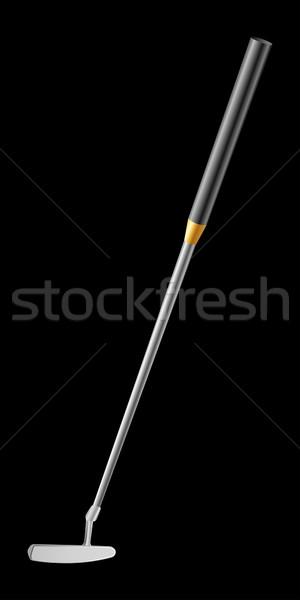гольф клуба изолированный черный железной Stick Сток-фото © sonia_ai