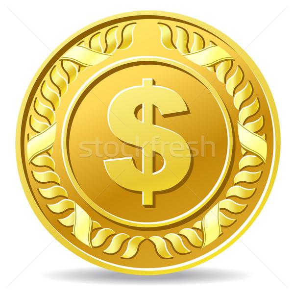 Dollar munt metaal goud cash Geel Stockfoto © sonia_ai