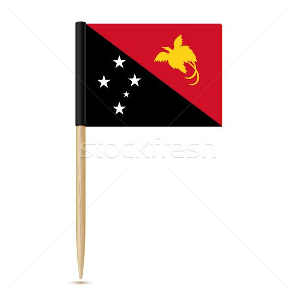 Zászló Pápua Új-Guinea papír térkép világ felirat Stock fotó © sonia_ai