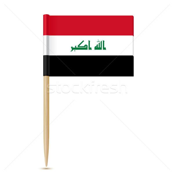 Iraque bandeira branco madeira fundo guerra Foto stock © sonia_ai