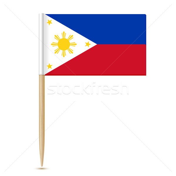 Flag of the Philippines. Flag toothpick 10eps Stock photo © sonia_ai