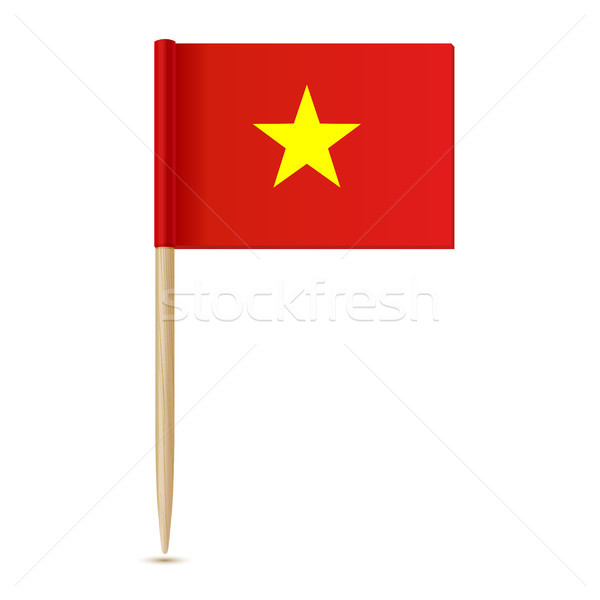 Vietnam flag. Flag toothpick 10eps Stock photo © sonia_ai