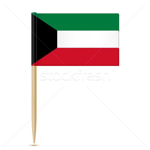 Vlag Koeweit witte hout oorlog Rood Stockfoto © sonia_ai