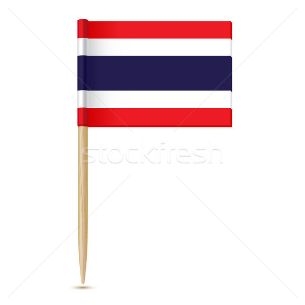 Flag of Thailand. Flag toothpick 10eps Stock photo © sonia_ai