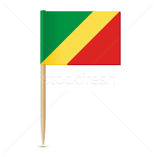 Republiek Congo vlag witte wereld teken Stockfoto © sonia_ai