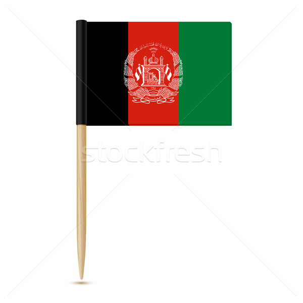 Flag of Afghanistan. Flag toothpick 10eps Stock photo © sonia_ai