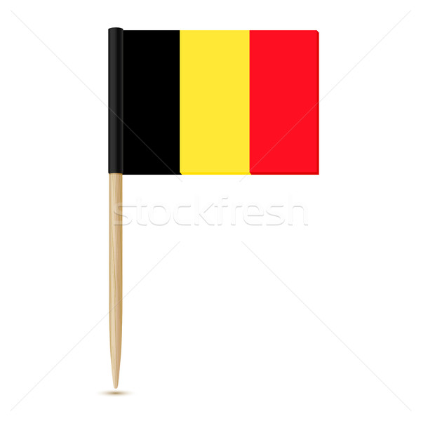 Flag of Belgium. Flag toothpick 10eps Stock photo © sonia_ai