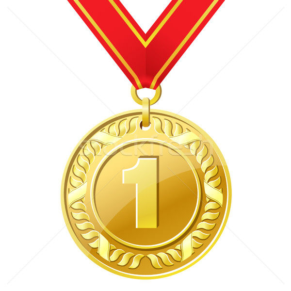 Medaille gouden medaille metaal teken succes lint Stockfoto © sonia_ai