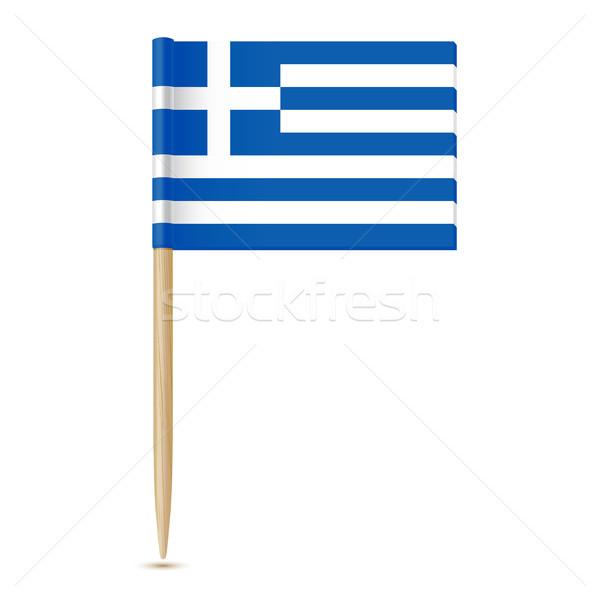 Vlag geïsoleerd witte hout kaart ontwerp Stockfoto © sonia_ai
