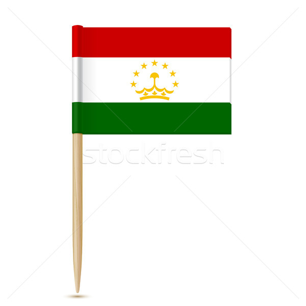 Tajikistan flag toothpick on white background 10eps Stock photo © sonia_ai