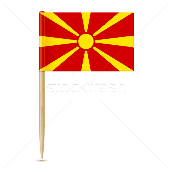 Flag of Macedonia. Flag toothpick 10eps Stock photo © sonia_ai