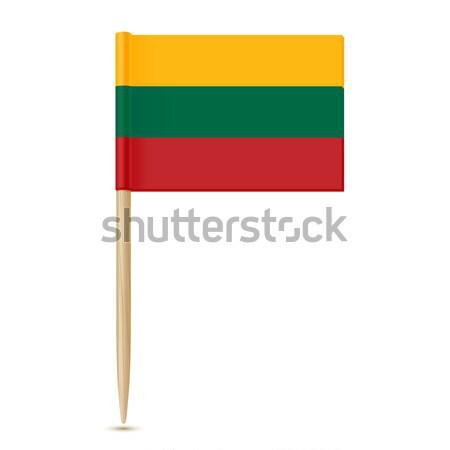 Litouwen vlag hout grafische banner stick Stockfoto © sonia_ai