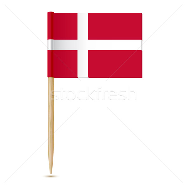 Denmark Flag. Flag toothpick 10eps Stock photo © sonia_ai