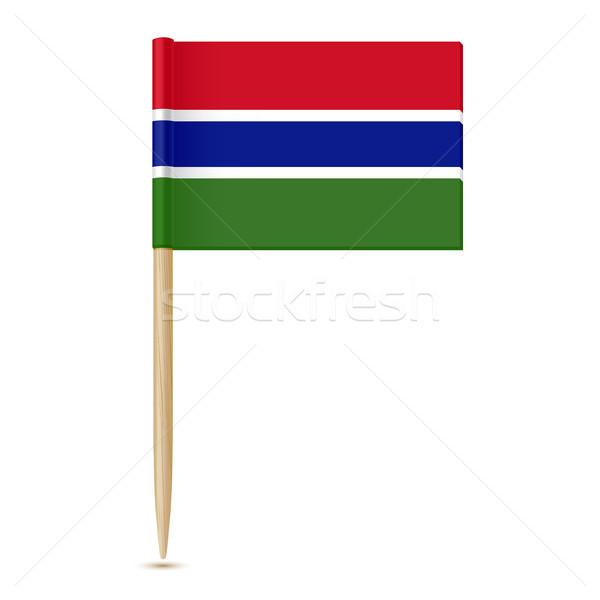 Vlag geïsoleerd witte papier achtergrond reizen Stockfoto © sonia_ai