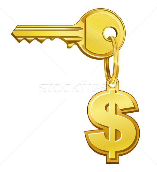Kulcs pénz ajtó felirat zár dollár Stock fotó © sonia_ai