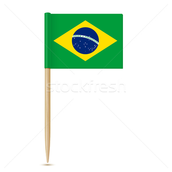 Brazil flag toothpick 10eps Stock photo © sonia_ai